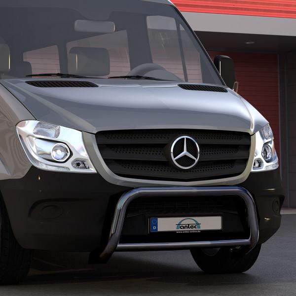 EU-Personenschutzbügel schwarz 60mm Querrohr 42mm für Mercedes Sprinter W906 Baujahr ab 09/2013
