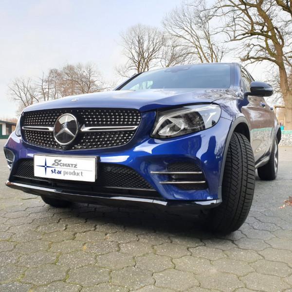 Schätz ® Chrom Finnen Stoßstange Mercedes GLC X253 SUV mit AMG-Line + C253 Coupe bis 2019(passt nicht bei Mopf)