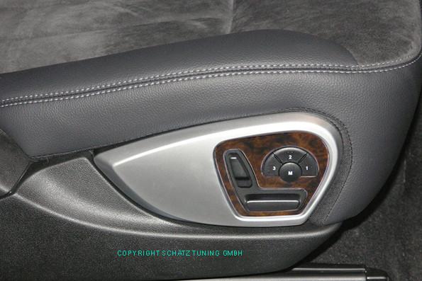 Schätz ® Edelholz Wurzelnuss-Einlage für Sitzverstellung für Mercedes