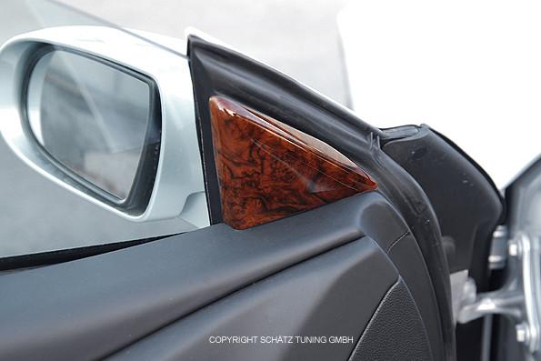 Schätz ® Edelholz echt Wurzelnuss Fensterecken für Mercedes SL R230