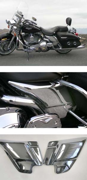 Harley Davidson Road King Chrom Batterieverkleidung Satz