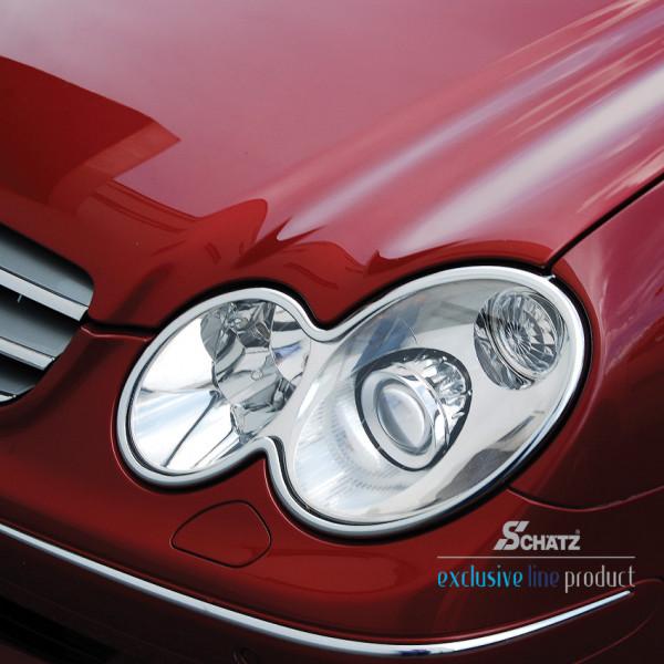 Schätz ® Chrom Scheinwerferrahmen Mercedes CLK W209 Coupe/Cabrio B-Ware