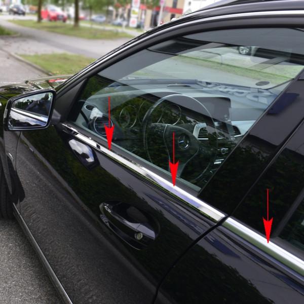 Schätz ® Edelstahl Fensterleisten für Mercedes C-Klasse Limousine W204 03/2007–06/2015