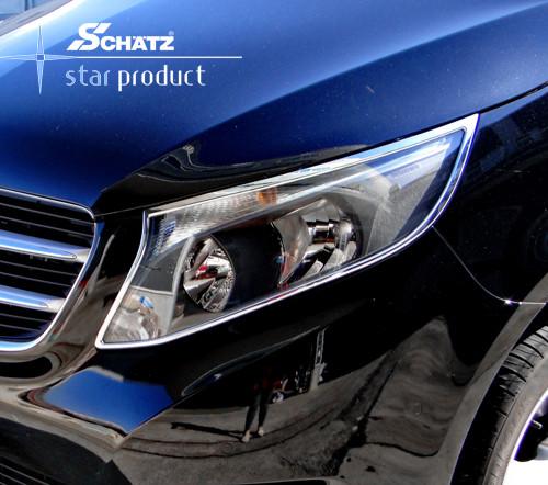 Schätz ® Chrom Scheinwerferrahmen für Mercedes V-Klasse/Vito W447 ab 10/2014