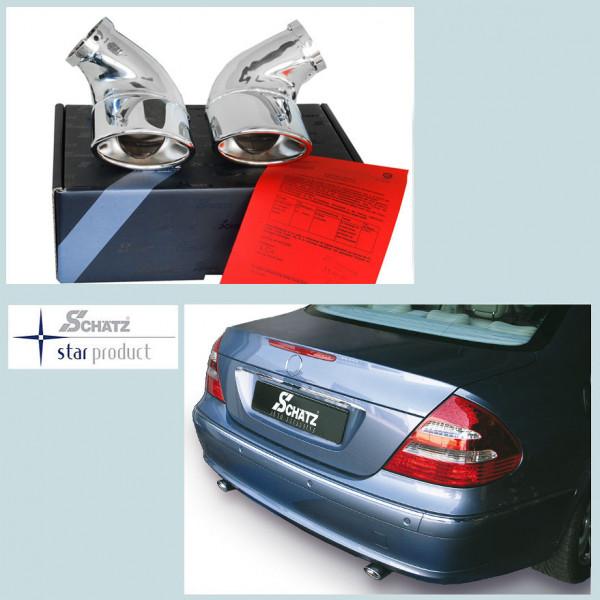 Schätz ® Endrohre 2 Stück 108x69mm für Mercedes E-Klasse W211 Limousine