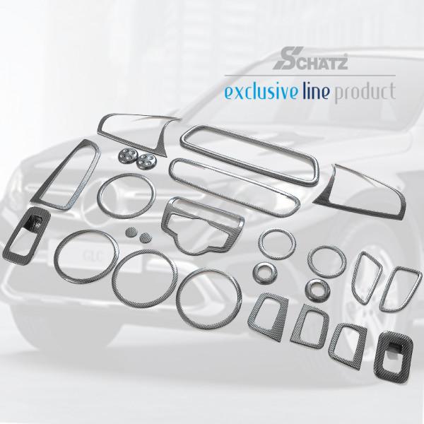 Schätz ® Carbonlook Interior für Mercedes GLC X253 SUV, ab Bj. 06/2015, Set 25 Teile