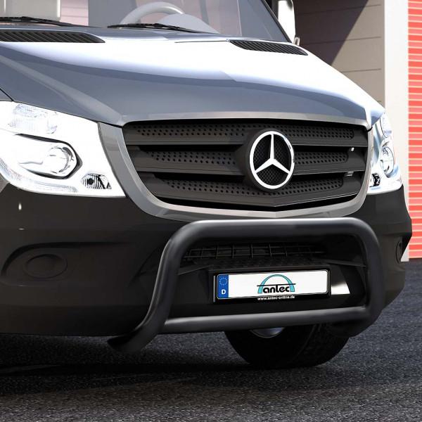 EU-Personenschutzbügel schwarz 60mm Querrohr 42mm für Mercedes Sprinter W910 mit Frontantrieb oder Allrad ab 2018