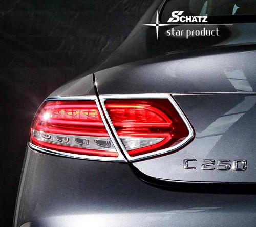 Schätz ® Chrom Rücklichtrahmen für Mercedes Benz C-Coupe/Cabrio C/A205