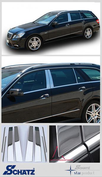 Schätz ® Edelstahl B-Säulenverkleidung hochglanzpoliert für Mercedes E-Klasse S212 T-Modell 2009 - 2016 (auch Mopf)
