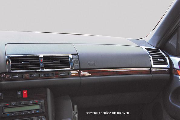 Chrom Lüftungsdüsenrahmen vorne für Mercedes W140 ab Bj. 1991