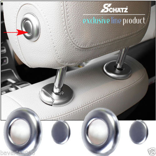 Schätz ® Chrom Kopfstützblenden matt für C-Klasse W205, E-Klasse W213, CL C217, GLE W166, ML W166