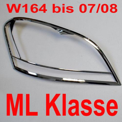 Schätz ® Chrom Scheinwerferrahmen Mercedes M-Klasse ML W164 bis Bj. 07-2008