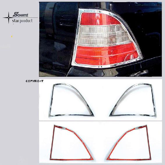 Schätz ® Chrom Rücklichtrahmen für Mercedes ML 1997–2005