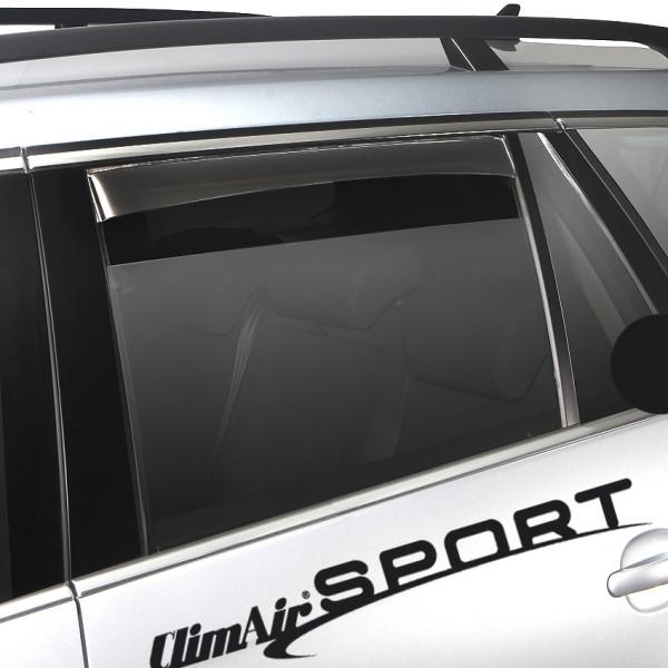 Climair Windabweiser schwarz hinten für Mercedes E-Klasse W212 4 Türer Limousine ab 2009